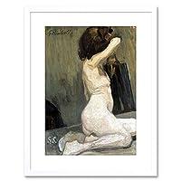 "Painting Galimberti Nude Sidewards 9x7"" Framed Wall Art Print"