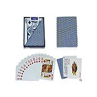 2パック防水 PVC プラスチックプレイングカードポーカーセット、54pcs デッキポーカークラシックマジックトリックツール理想的な贈り物、読みやすい色を区別,6688BLUE