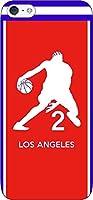 iPhone/Xperia/Galaxy/他機種選択可:バスケットシルエットケース(フルカラー/アウェイ/ロサンゼルス:2番_B) 85 au GALAXY S5(SCL23)