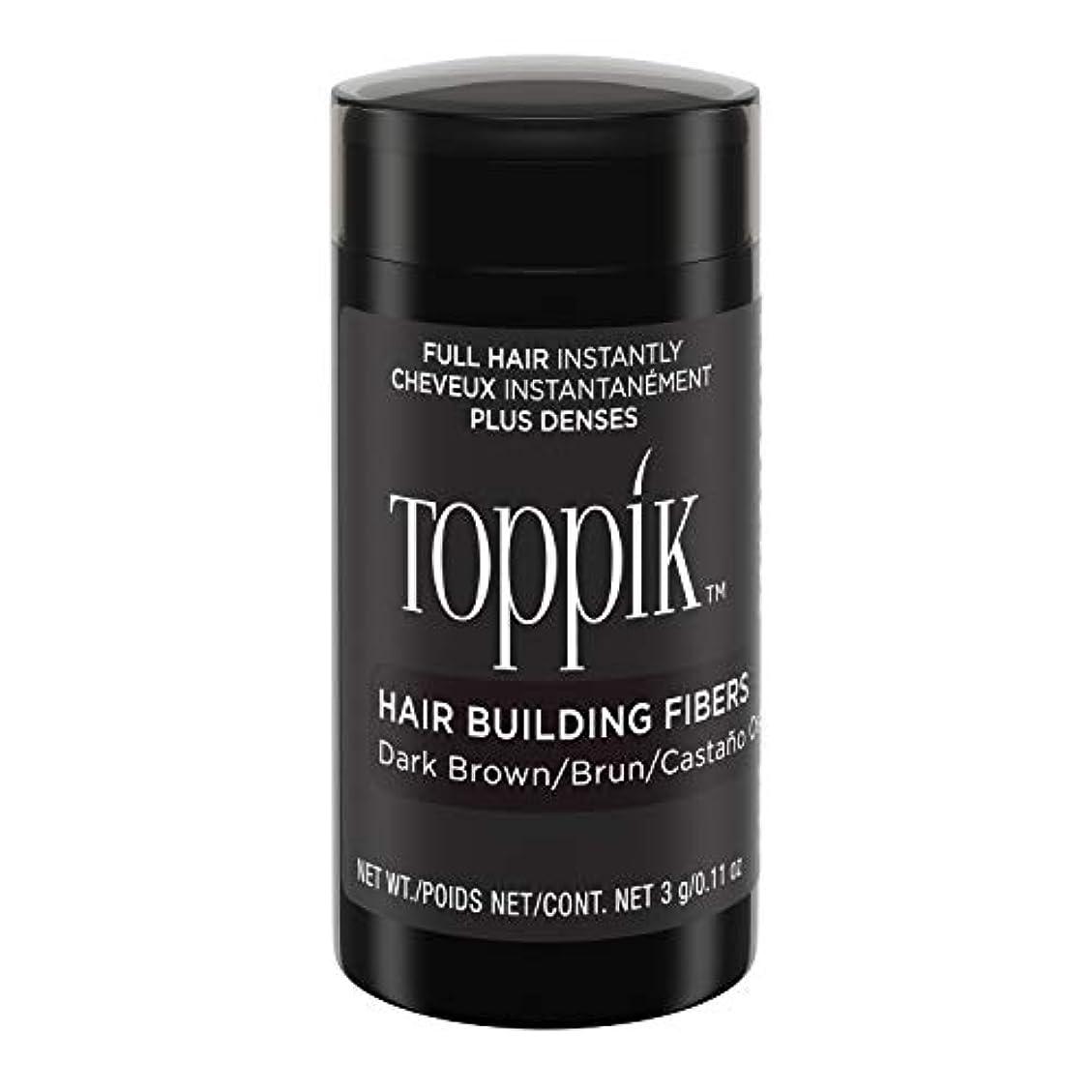 わずらわしい調停者オフセットToppik Hair Building Fibers - Dark Brown 0.09 oz. small travel size by Spencer Forrest
