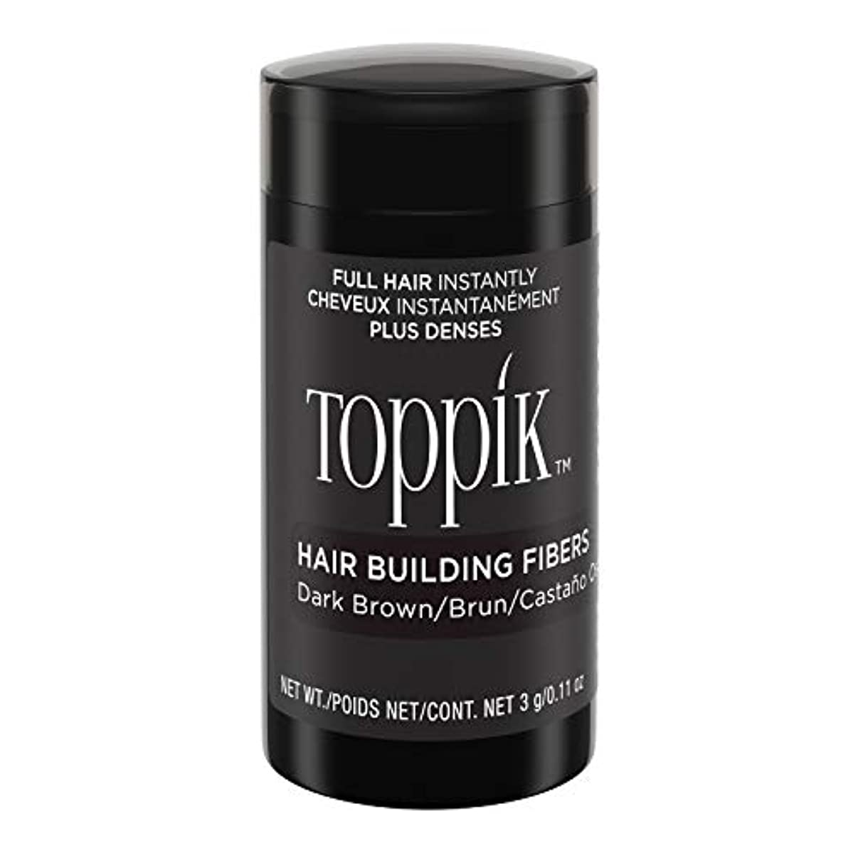 壊滅的な抜本的な集まるToppik Hair Building Fibers - Dark Brown 0.09 oz. small travel size by Spencer Forrest