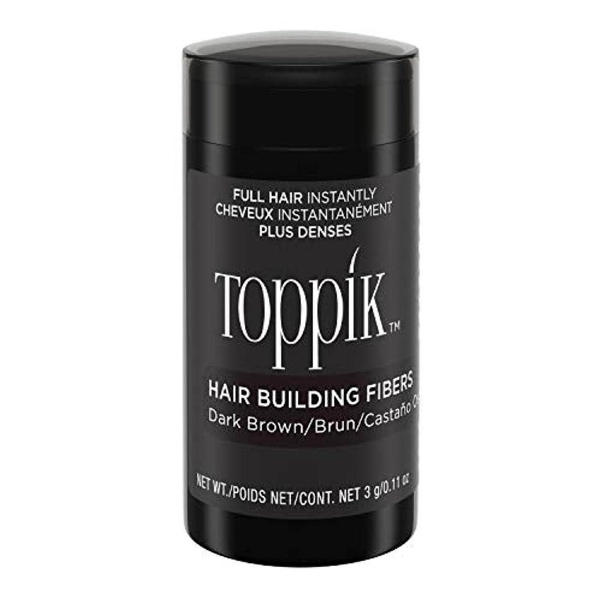 立場リル摂動Toppik Hair Building Fibers - Dark Brown 0.09 oz. small travel size by Spencer Forrest