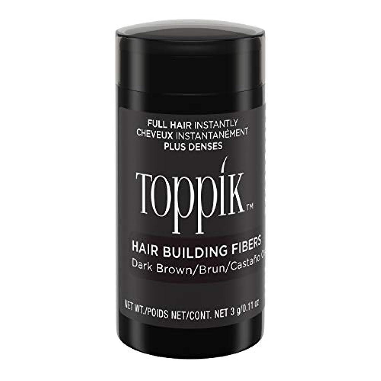 読みやすさ数学者淡いToppik Hair Building Fibers - Dark Brown 0.09 oz. small travel size by Spencer Forrest