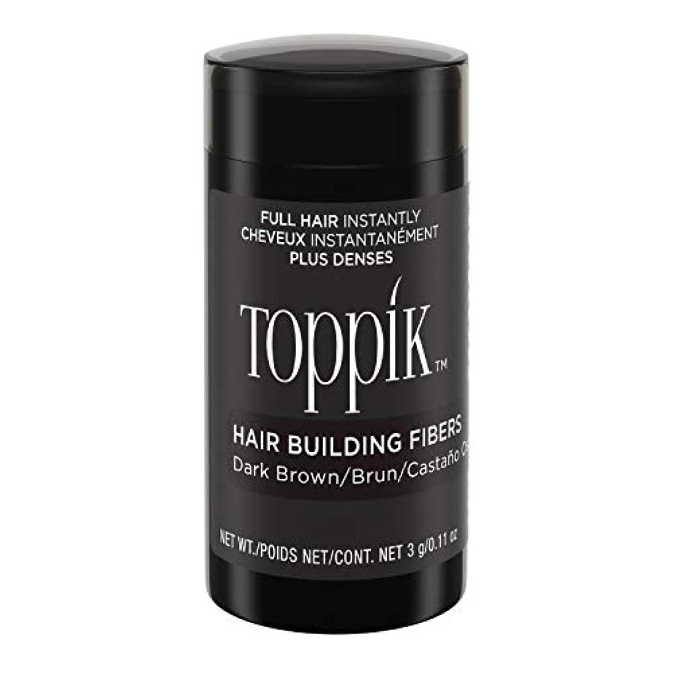 ハドル審判お手伝いさんToppik Hair Building Fibers - Dark Brown 0.09 oz. small travel size by Spencer Forrest
