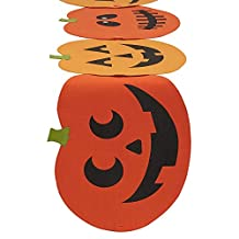 """DII Spooky Jack O' Lantern Halloween Table Runner for Halloween, Dinner Parties and Scary Movie Nights - 14x72"""""""
