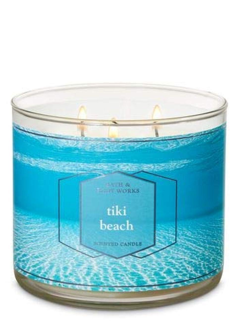 加害者住むトロピカル【Bath&Body Works/バス&ボディワークス】 アロマキャンドル ティキビーチ 3-Wick Scented Candle Tiki Beach 14.5oz/411g [並行輸入品]