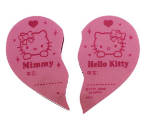 ピンクHello KittyハートShapped Break Appart消しゴム