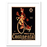 Ad If Only I Had A Continental Bicycle Tire Framed Wall Art Print