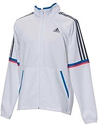 adidas(アディダス) メンズ トレーニングウェア エッセンシャルズ レトロスポーツ クロスジャケット ホワイト ETZ97