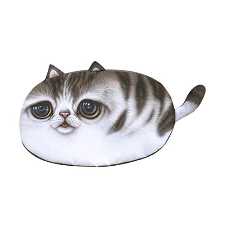 llguz Girl Cute Cartoon CatパターンPlush Zipper Coin Purse Change Purseバッグ財布