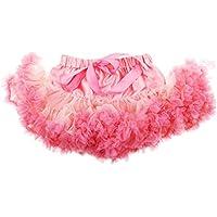 Baosity Children's Dance Performance Ribbon Tutu Skirt - Pink Coral, S (3-4 Years)