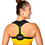 The BEST Posture Corrector for Men and Women, Adjustable Back Support Brace, Washable - Helps Relieve Back Pain and Neck Pain - Promotes Good Posture - Comfortable to Wear - Includes Travel Bag and Easy to Read Instructions