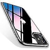 TORRAS iPhone 11用 ケース 日本旭硝子製 背面9H強化ガラス+TPUバンパー Fancy Series(クリア)