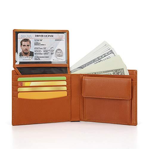 財布 メンズ 二つ折り ウォレット 本革製 ボックス型小銭入れ 大容量 RF...
