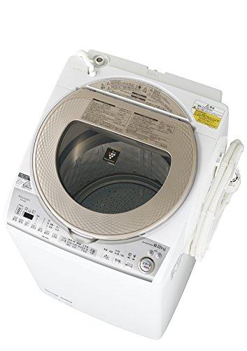 シャープ タテ型洗濯乾燥機 8kgタイプ ゴールド系 ESTX...