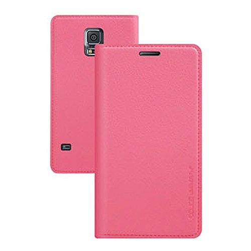 Galaxy S4 / ギャラクシー S4 (SC-04E) 対応 ケース Ladouce Leather Flip ラヂュース レザー フリップ ケース スマホ カバー Pink / ピンク