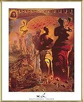 ポスター サルバドール ダリ 幻覚剤的闘牛士 額装品 アルミ製ベーシックフレーム(ゴールド)