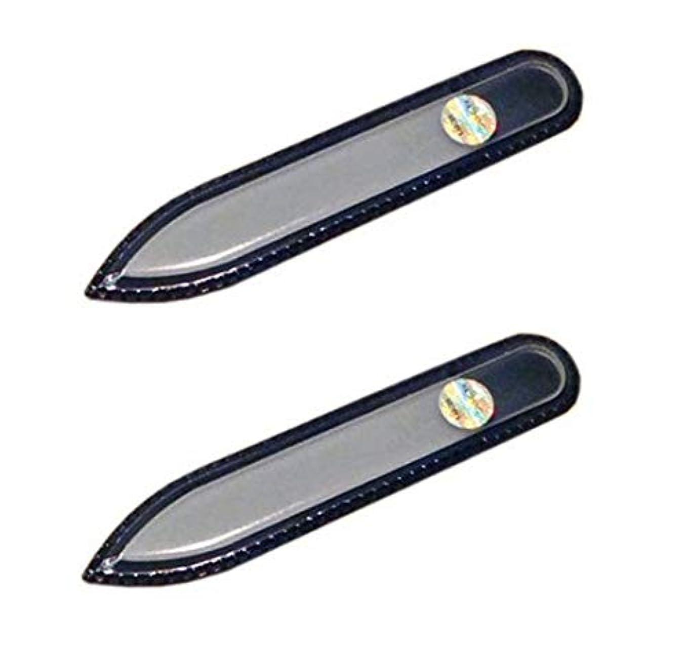 ラップトップ謎めいたダーリンブラジェク ガラス爪やすり 90mm 両面タイプ (ブラジェク ガラス爪やすり 90mm 両面タイプ 2個セット)