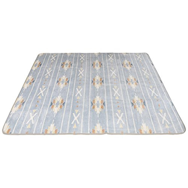 マイクロファイバー 洗える ラグマット カーペット 3畳サイズ 柄:190~200×240 無地:200×240 カフェ風 ヴィンテージ デザイン プリント ラグ 絨毯 西海岸
