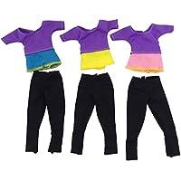 ゴシレ [Gosear] 3セットのファッションの女の子人形玩具ヨガスーツスポーツ服アクセサリーバービー玩具ランダムスタイル