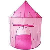 Abplus キッズテント おもちゃ テントハウス 子供部屋 屋内 室内テント 子供テント プレゼント 秘密基地 知育玩具 おままごと 隠れん坊ゲーム 遊び小屋キャッスル子供たちの遊び場 (Light Pink)