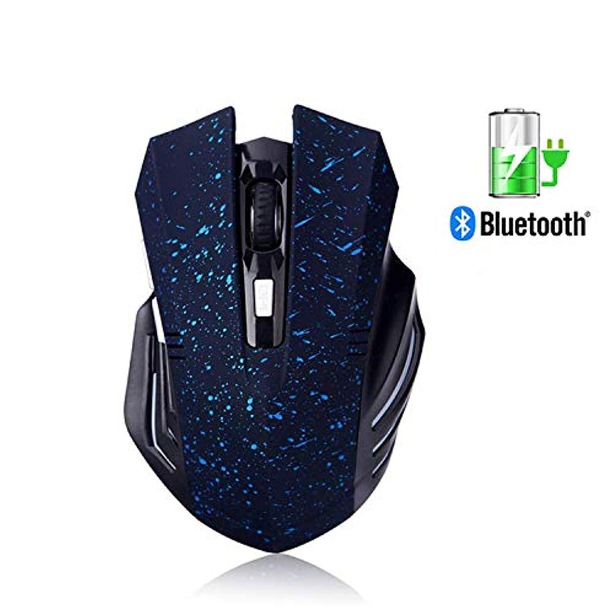 ヘビークレタ省略Tsmine Bluetooth ワイヤレス 無線 静音 充電式ゲームマウス 静かなクリックでノイズレス 6ボタン 3段階DPI調整 PC/Android/Macなど多数のOS対応 スノーブルー