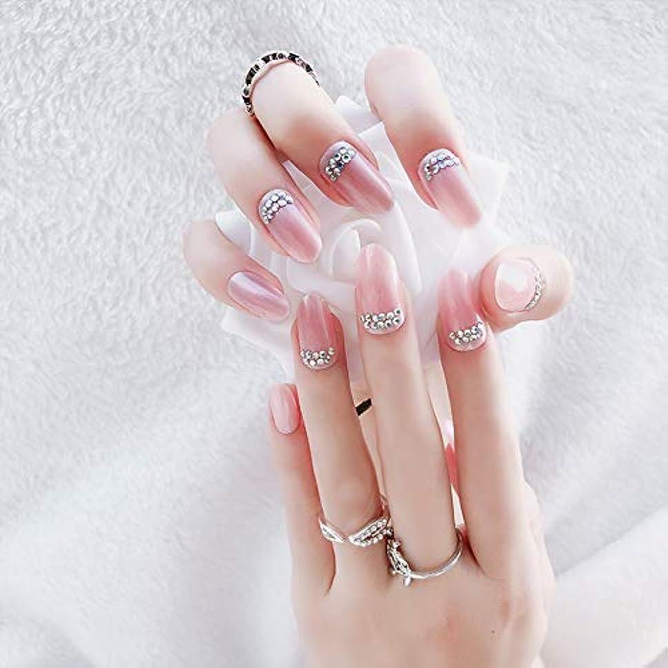 郵便敬意を表して寝てる花嫁ネイル 手作りネイルチップ 和装 ネイル 24枚入 結婚式、パーティー、二次会など 可愛い優雅ネイル 人造ダイヤモンドの装飾 (A20)