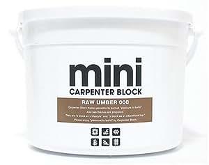 CARPENTER BLOCK mini SINGLE COLOR 64PIECES /RAW UMBER 008