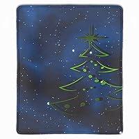 マウスパッド 滑り止め 天然ゴム 長方形 クリスマスツリーブルー