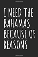 I Need The Bahamas Because Of Reasons: Blank Lined Notebook