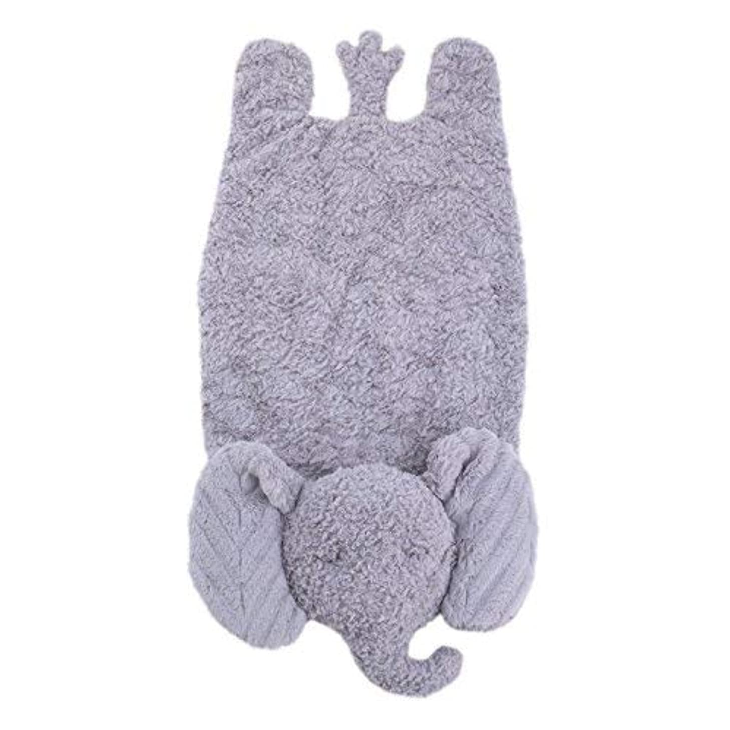 羽判読できない夜明けにCuddle Me Luxury Tummy Play Time Mat Elephant Grey [並行輸入品]