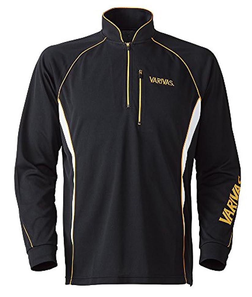 VARIVAS(バリバス) クールMAXジップシャツ VAZS-20 M ブラック/ホワイト.