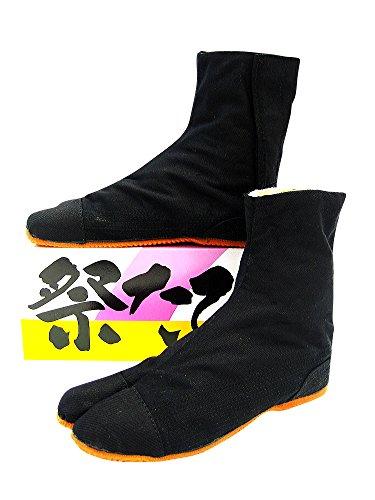 子供 祭たび (黒・ショートタイプ) 14cm~24cm 株...