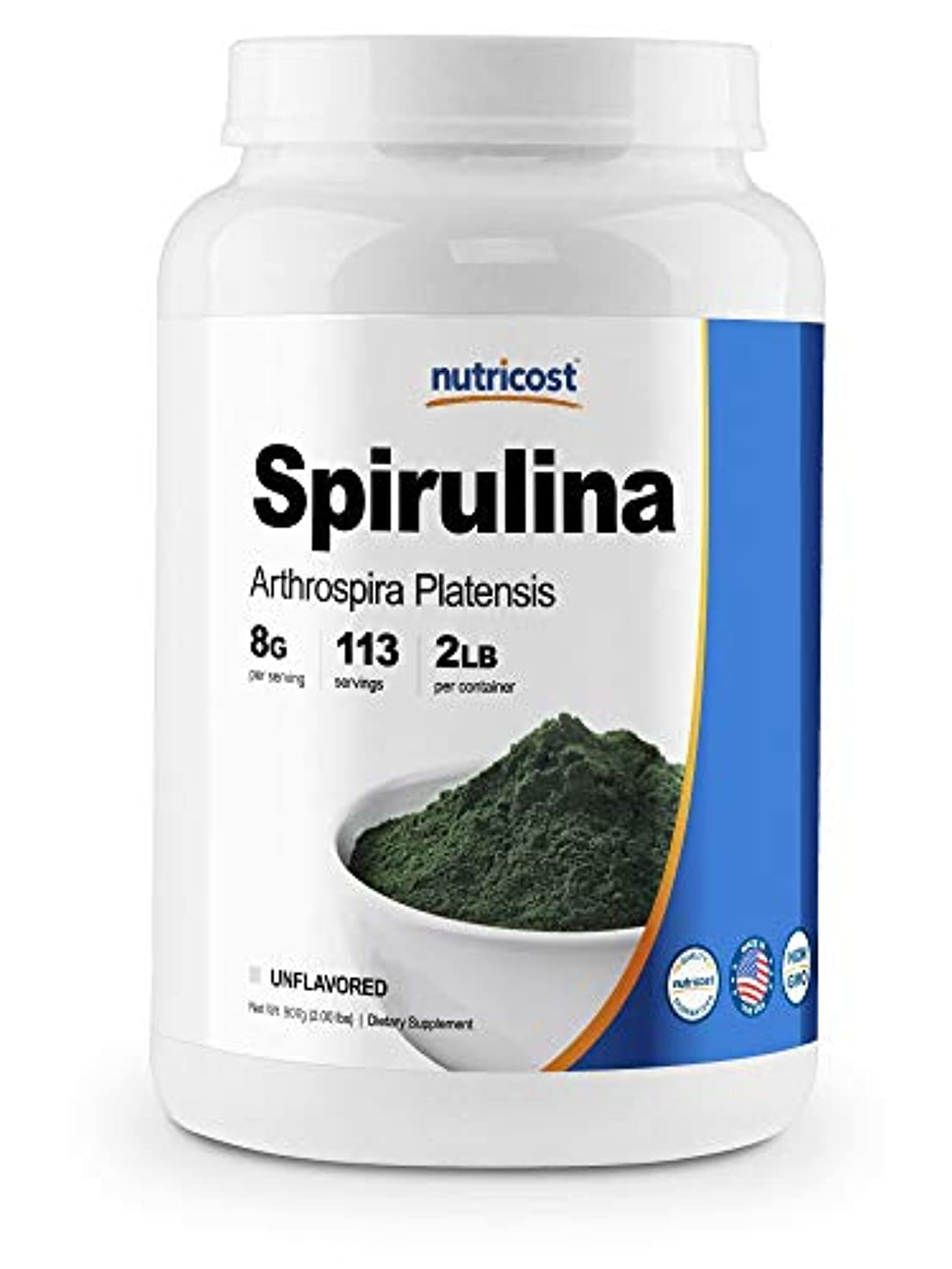サラダ解く形容詞Nutricost スピルリナパウダー2ポンド - サービングごとの純粋な、良質のスピルリナ8000mg