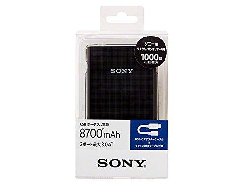 ソニー USBポータブル電源 (8,700mAh ブラック ...