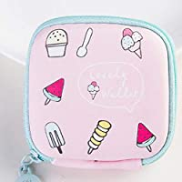 Kaytering ミニかわいい小さな四角い袋のコインバッグイヤホンバッグ (#2)
