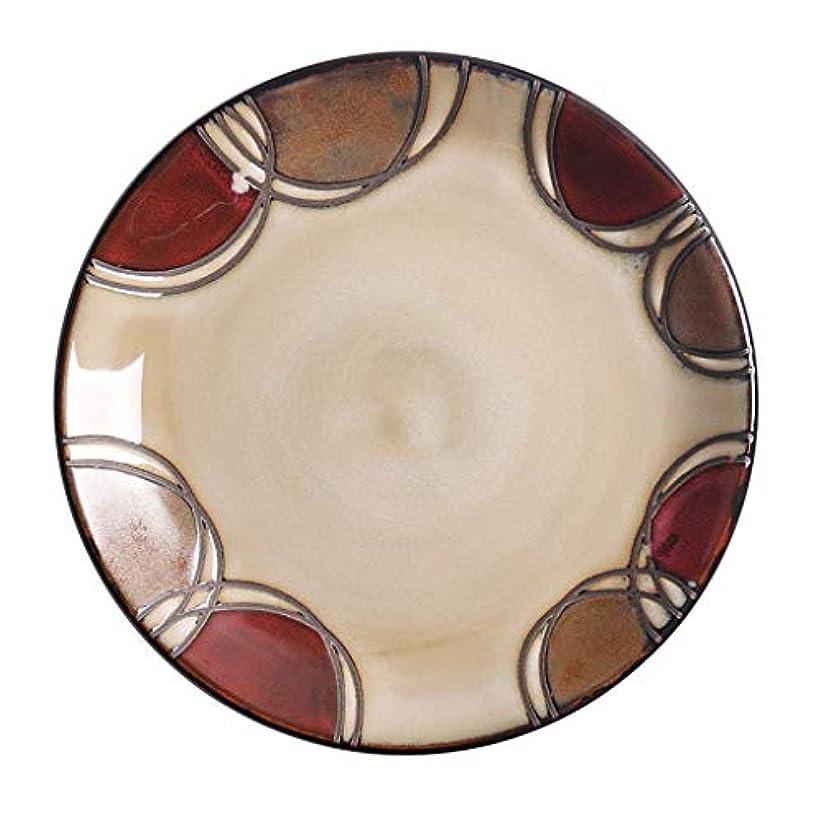 発火する取得する農民DGEG プレートヴィンテージセラミック食器ディナー皿レストランホーム加熱可能な磁器食器用寿司デザート