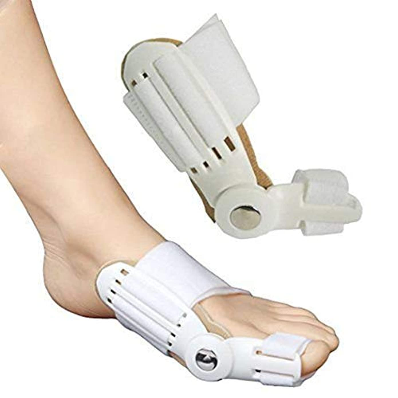 エアコン控えめなモンスター4個Hallux外反矯正器具、つま先調整器、親指親指外反、つま先セパレーター、矯正ベルトナイト、シングルつま先蝶番付き腱膜サポート