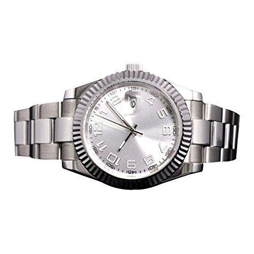 Whatswatch サファイアクリスタルParnis Sterile デイトジャスト腕時計 自動巻き メンズ 40mm PA-0036