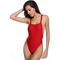 SHEKINI Women Swimwear Bikini Backless High Cut Swimsuits One Piece Thong Bathing Suits