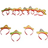 (12) - Fun Express Sombrero Party Hat Headbands Fiesta Party Favours - 12 pieces