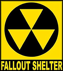Fallout Shelter Sign Bumper Sticker 114mmX127mm - 放射性降下物シェルターサインバンパーステッカー114mmX127mm
