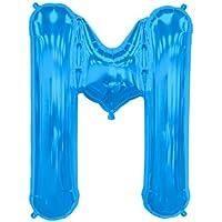 プレミアムレターバルーン ブルー 「M」 16インチ(約30cm)