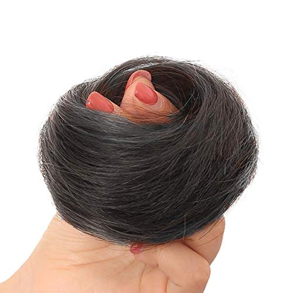 乱れ分数おそらくFEIYI WIGSウィッグ シュシュ100%人毛 お団子 コーム式/クリップ式 つけ毛 エクステ 部分ウィッグ シニヨン 髪飾り 結婚式 和装 装着簡単