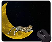 注文の元のヒョウシリーズマウスパッド、ファンタジー猫家族ヒョウマウスパッド