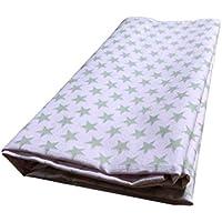 Bedsheetsコットンスターパターン(ピンク&グレーカラーサイズ89 x 58インチ