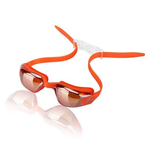 Sport 子供用水泳用ゴーグル、子供向けスイミングゴーグル、横からの水進入防止、くもり防止、UVカット400、強吸引力シリコーンゴムフレーム、快適な高品質ノーズピース、調整可能なストラップ
