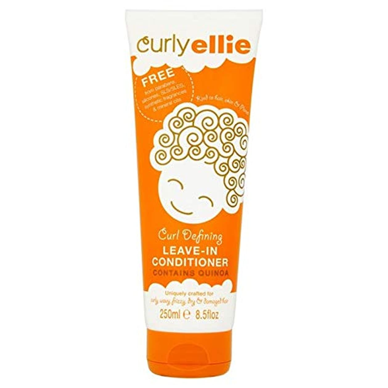 [CurlyEllie] カーリーエリーカールリーブインコンディショナー250Mlを定義します - Curly Ellie Curl Defining Leave-In Conditioner 250ml [並行輸入品]