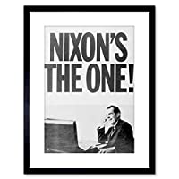 Vintage Photo Nixon's The One Politics New Framed Wall Art Print