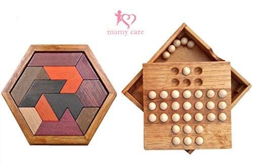 【mamy care】木の温もりの 木製 パズル 楽しく 脳トレ つまんで 指先 刺激 リハビリ シ...